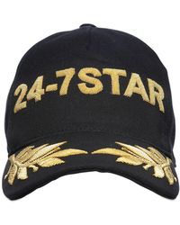 DSquared² - Icon Embroidered Canvas Baseball Hat - Lyst