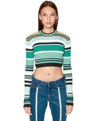 Diesel Black Gold - Cropped Viscose Rib Knit Sweater - Lyst