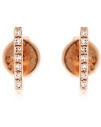 EF Collection - Bar Diamond Stud Earrings - Lyst