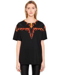 Marcelo Burlon | Tokanki Flames Cotton Jersey T-shirt | Lyst