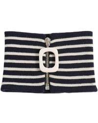 JW Anderson - Zip Extra Fine Merino Wool Neckband - Lyst