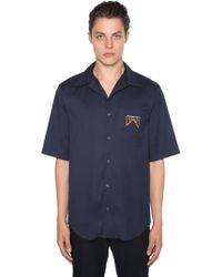 Prada - Hemd Aus Stretch-baumwollmischung - Lyst