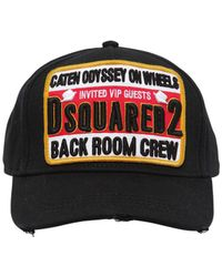 DSquared² - Back Room Cotton Baseball Hat - Lyst