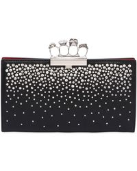 Alexander McQueen - Studded Leather Knuckle Clutch - Lyst