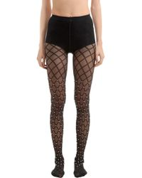 Wolford - Pearl Beaded Net Stockings - Lyst