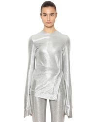 Paco Rabanne - Stretch Lurex Jersey Long Sleeve Top - Lyst