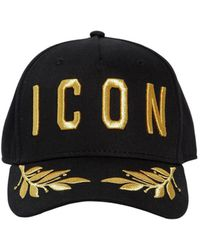 DSquared² - Icon Cotton Canvas Baseball Hat - Lyst