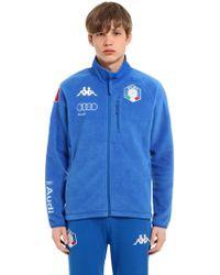 "Kappa - Felpa ""fisi Italian Ski Team"" In Pile - Lyst"
