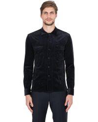 Salvatore Piccolo - Stretch Corduroy Cotton & Modal Shirt - Lyst