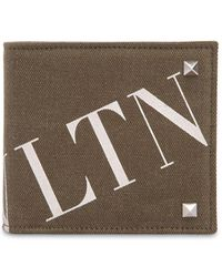Valentino - Logo Print Cotton Canvas Wallet - Lyst