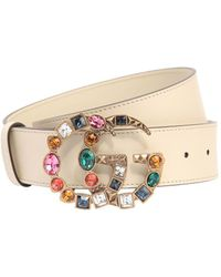 Gucci - 40mm Gg Marmont Multicolor Buckle Belt - Lyst