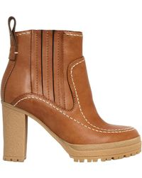 See By Chloé - 100mm Leather Boots - Lyst