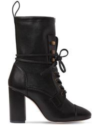 Stuart Weitzman - 80mm Veruka Leather Ankle Boots - Lyst