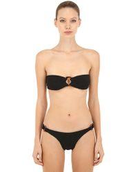 Hunza G - Bikini De Seersucker Decorado - Lyst