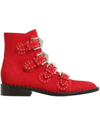 Givenchy - 20mm Prue Studded Suede Ankle Boots - Lyst