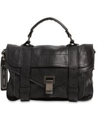 Proenza Schouler Ps1 Tiny Lux Leather Top Handle Bag - Black