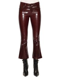 RTA - Kiki Crop Boot Cut Patent Leather Pants - Lyst