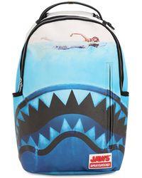 Sprayground - Jaws Shark Printed Backpack - Lyst