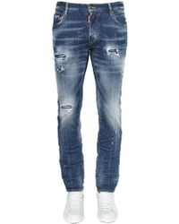 DSquared² - Jeans City Biker In Denim 17cm - Lyst