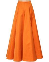 Rochas - Tehcno Gabardine Long Skirt - Lyst