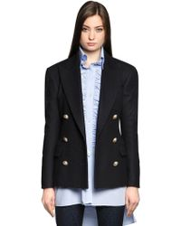 Faith Connexion - Double Breasted Wool Cloth Jacket - Lyst
