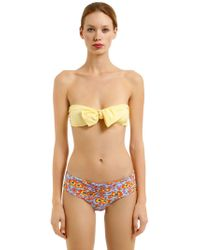 Albertine - Georgia Striped & Floral Lycra Bikini - Lyst