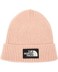 The North Face - Logo Rib Knit Beanie Hat - Lyst