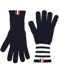 Thom Browne - Bar Stripe Cashmere Gloves Navy - Lyst