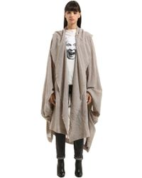 Vivienne Westwood - Draped Wool Blend Coat - Lyst