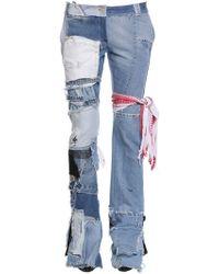 Ronald Van Der Kemp - Up Cycled Patchwork Denim Jeans - Lyst