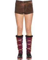 Etro - Shorts In Cotone Spazzolato - Lyst