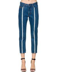 Diesel Black Gold - Straight Denim Jeans W/ Raw Cut Detail - Lyst