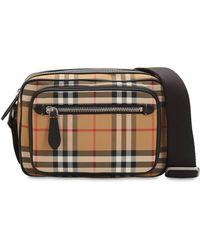 Burberry - Checked Nylon Messenger Bag - Lyst