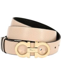 Ferragamo - 20mm Reversible Gancio Leather Belt - Lyst