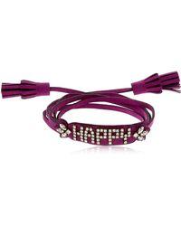 Shourouk | Blabla Alcantara Bracelet | Lyst