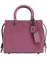 COACH - Rogue Textured Leather Bag - Lyst