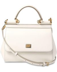 4aa6b7b08def Dolce   Gabbana - Small Sicily Dauphine Leather Bag - Lyst