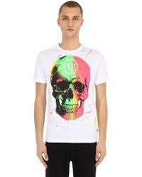 Philipp Plein - T-shirt In Jersey Di Cotone - Lyst