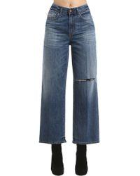 DIESEL - High Waist Straight Leg Denim Jeans - Lyst