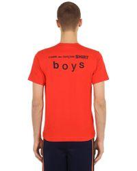 Comme des Garçons - T-shirt In Jersey Di Cotone - Lyst