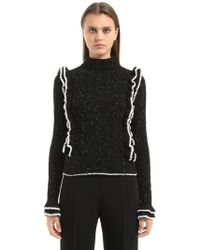 Philosophy Di Lorenzo Serafini | Speckled Cable Knit Sweater | Lyst