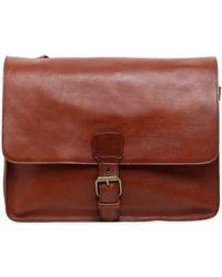 Officine Creative - Brushed Leather Messenger Bag - Lyst