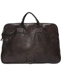 Campomaggi - Vintage Effect Leather Briefcase - Lyst