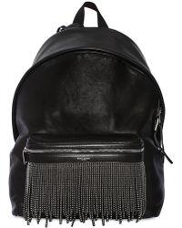 Saint Laurent - Stud Fringe Leather Backpack W/ - Lyst