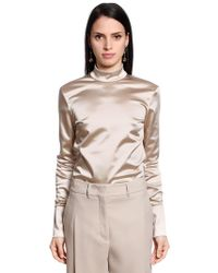Jil Sander - Stretch Satin Shirt - Lyst