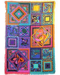 Emilio Pucci - Printed Silk Twill Scarf W/ Fringe - Lyst