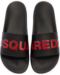 DSquared² - Logo Rubber Slide Sandals - Lyst