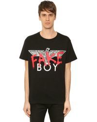 BOY London - Boy Fake Printed Jersey T-shirt - Lyst 1f77a63d4628