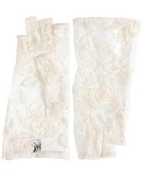 Ann Demeulemeester - Short Embroidered Fingerless Gloves - Lyst