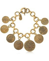 Alcozer & J | Coin Charm Bracelet | Lyst